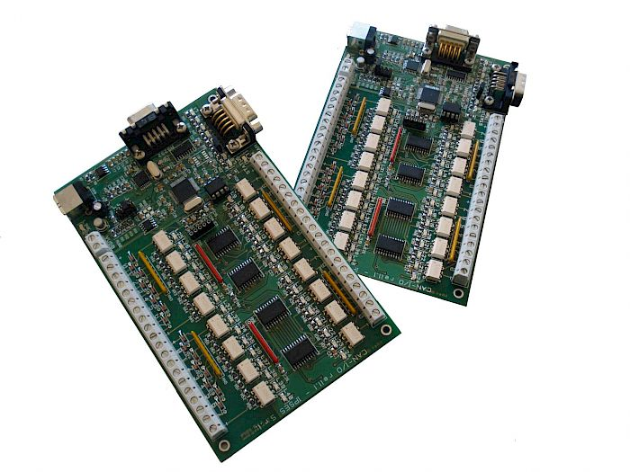 IPSES Srl - CAN-IO: Input/output Card with 16 inputs and 16 outputs and CAN interface