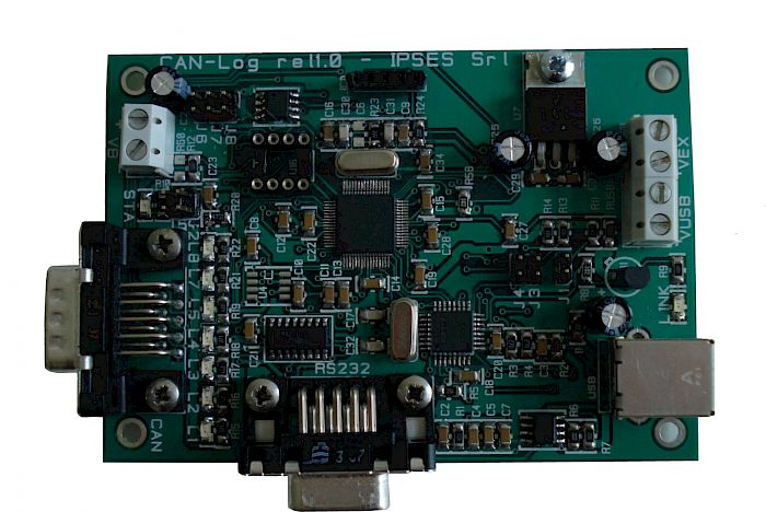 IPSES Srl - CAN Sniffer: data sniffer for CAN bus with USB and RS232 interfaces